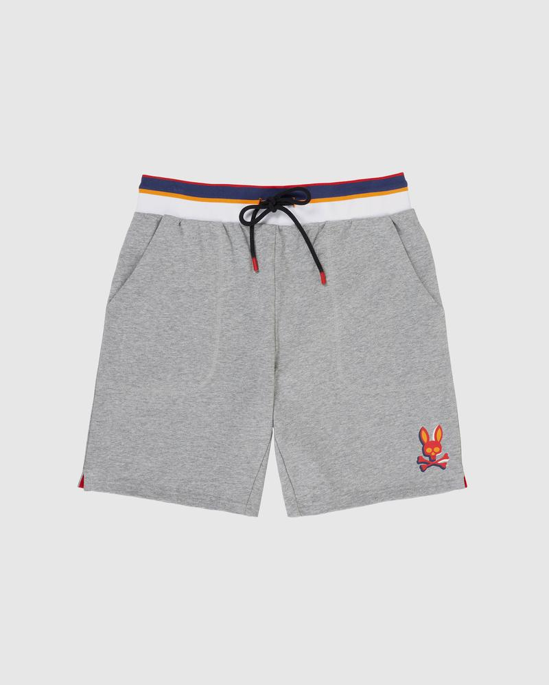Psycho Bunny-Newell Shorts-Heather Grey-B6P798J1FT