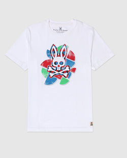 PSYCHY BUNNY MENS ALBION T-SHIRT-WHITE B6U775J1PC