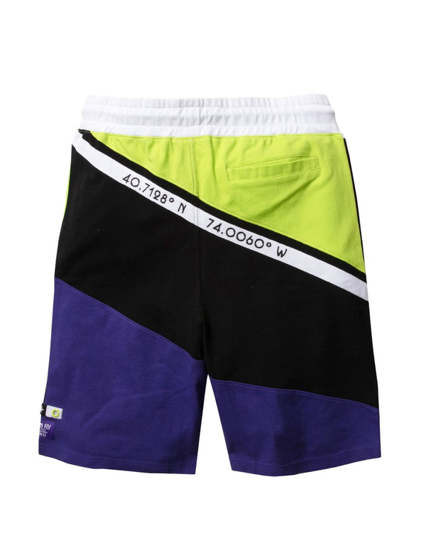 Born Fly-Grand Canal Colorblock Sweatshorts-Purple