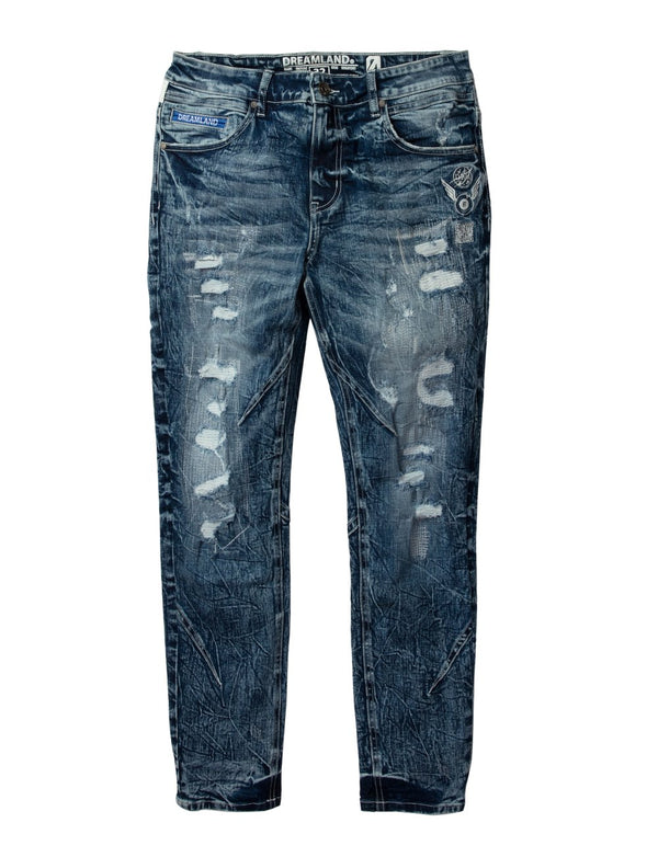 Dream Land-Lightspeed Denim Jean-Med Stone Wash