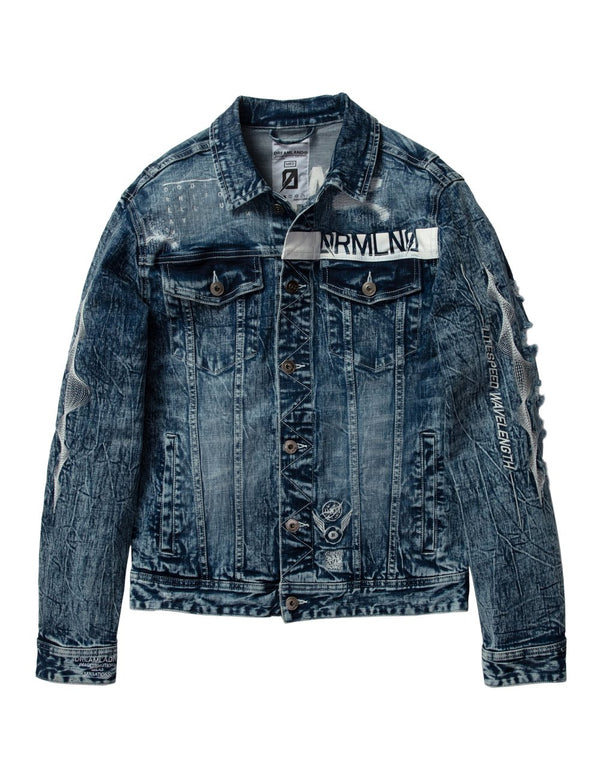 Dream Land-Lightspeed Denim Jacket-Med Stone Wash