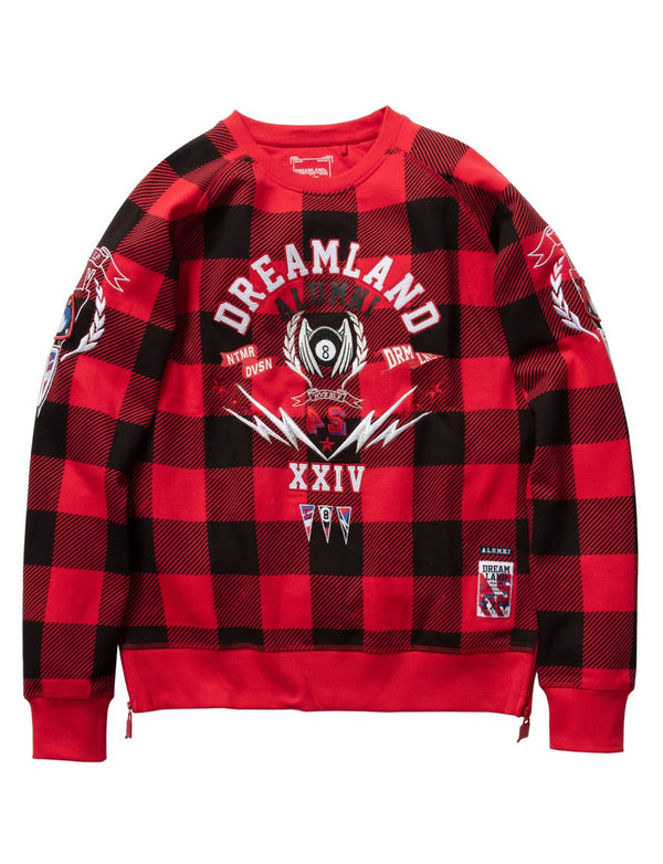 Dreamland-Alumni Crewneck-Red