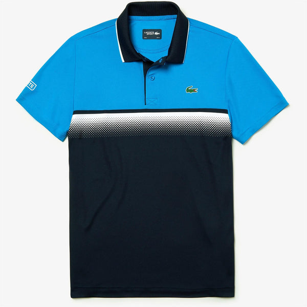 LaCoste-Men's Lacoste SPORT Shaded Colourblock Technical Piqué Tennis Polo Shirt-Blue-Navy Blue • A3G-DH3448