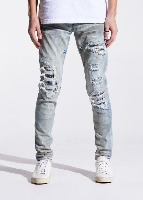 Embellish NYC-Harvick Rip & Repair Denim-Blue