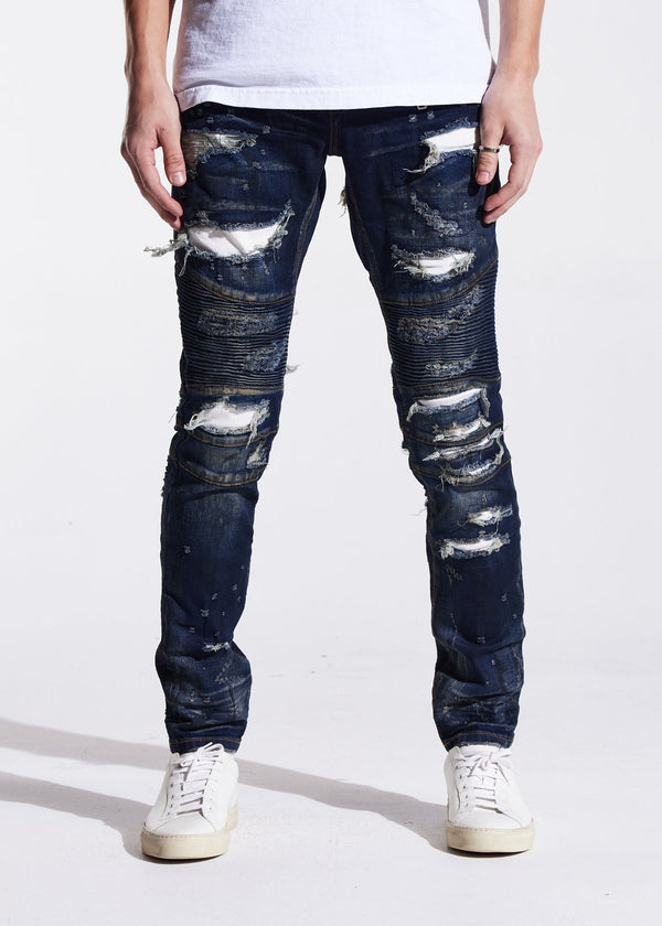Embellish NYC-Ambrose Biker Denim-Dark Indigo