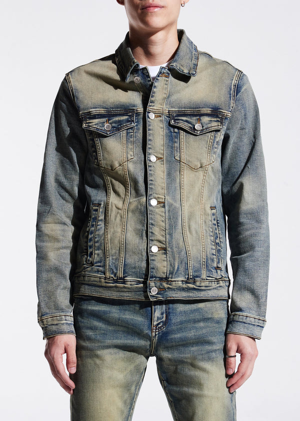 Embellish NYC-Marcos Denim Jacket-Sand Wash