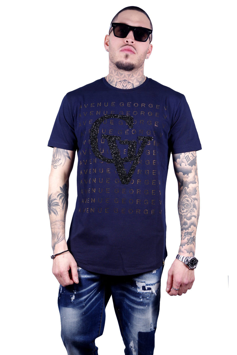 George V Paris Men's Tee-Shirt-GV2021-NAVY