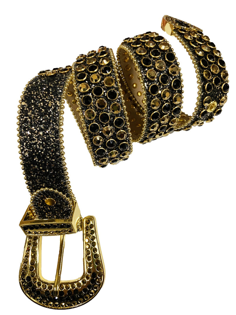 DNA Belt-Black/Gold Stone