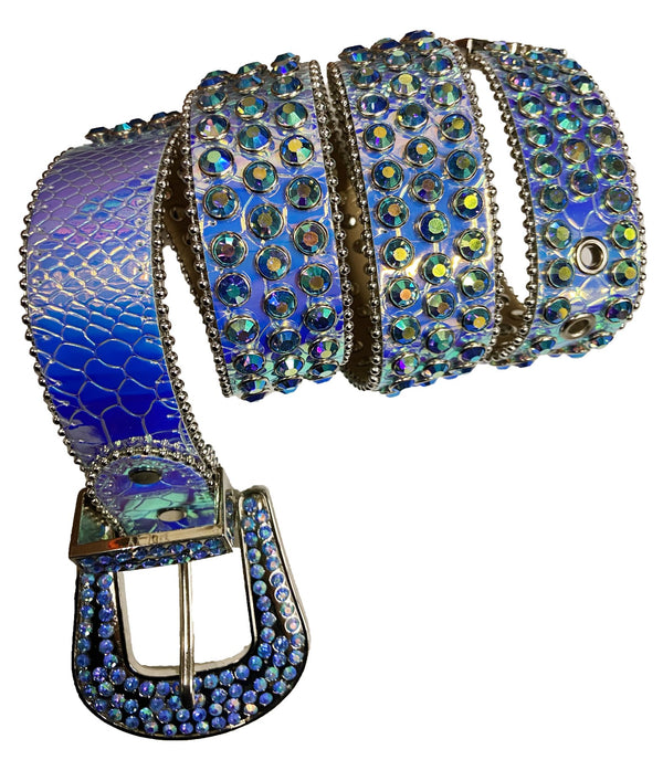 DNA Belt-Iridescent Blue/Purple Stones