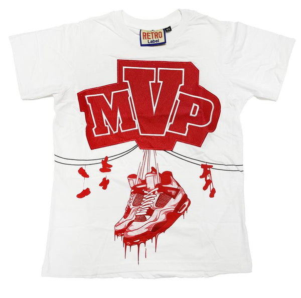 Retro Label-MVP Tee-White/Red