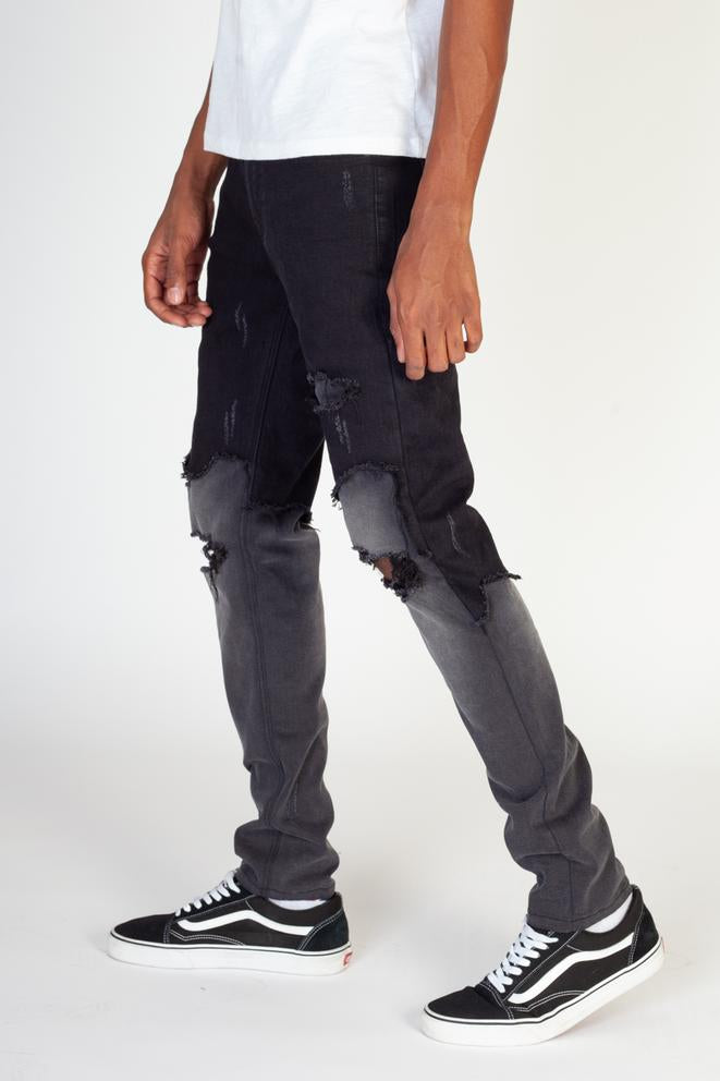 KDNK-Double-Layer-Jeans-Black