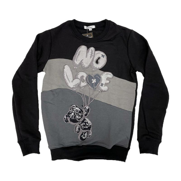 Retro Label-No Love Air Crewneck-Retro 5 Anthracite