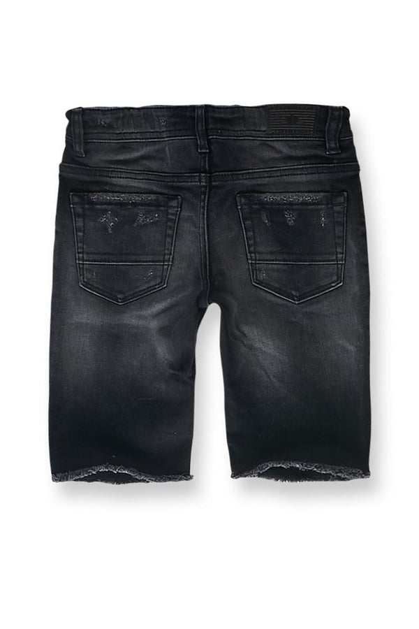 Jordan Craig Kids-Edison Denim Shorts-Black Shadow -J3145SK