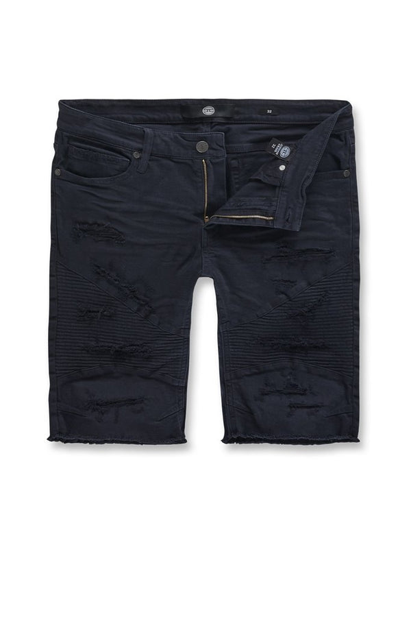 Jordan Craig Kids-Rebel Moto Twill Shorts-Navy Blue-J3152SK