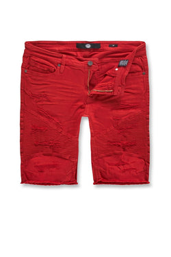Jordan Craig Kids-Rebel Moto Twill Shorts-Red-J3152SK