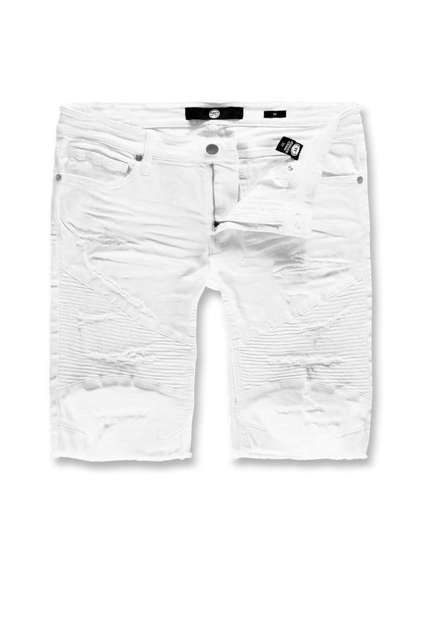 Jordan Craig Kids-Rebel Moto Twill Shorts-White-J3152K