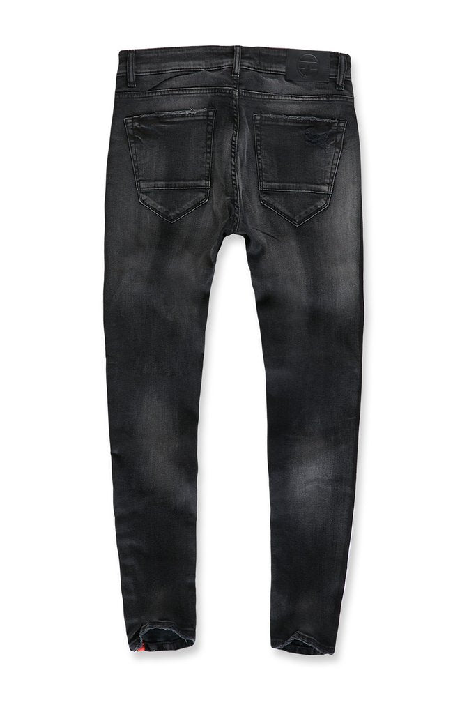 Jordan Craig- SUGAR HILL STRIPED DENIM (BLACK SHADOW)