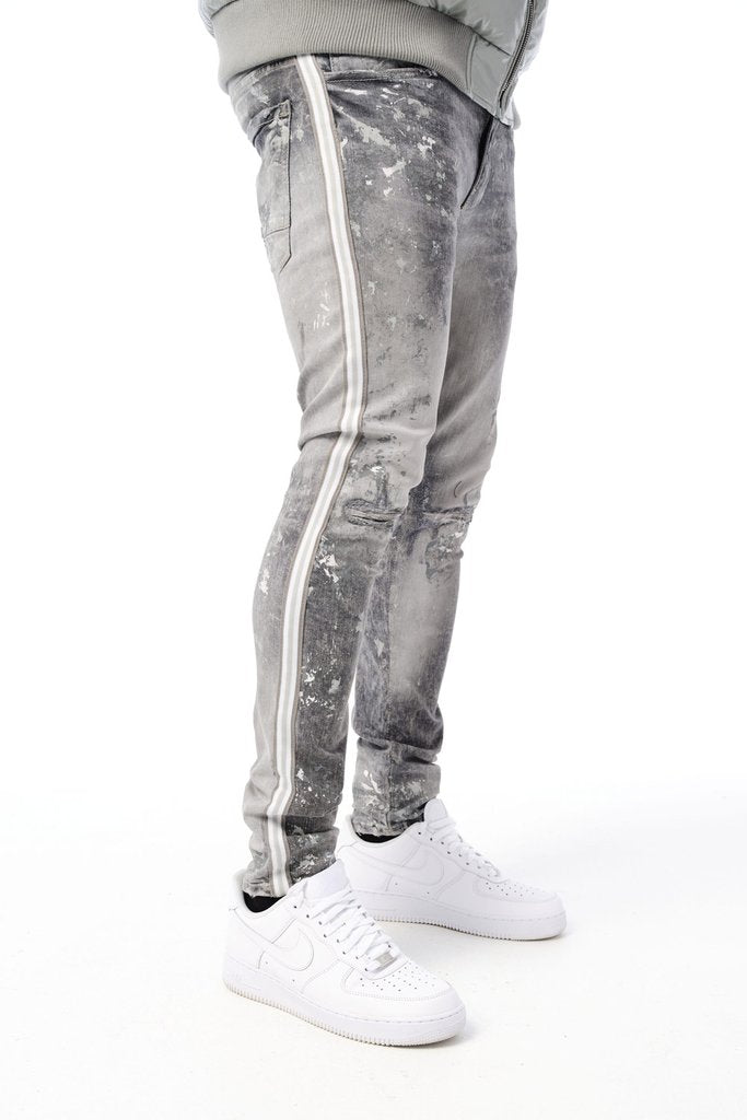 Jordan Craig-Sugar Hill Striped Denim-Artic White-JM3430
