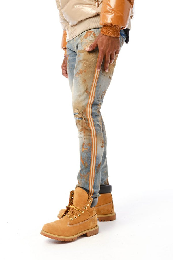 Jordan Craig-Sugar Hill Striped Denim-Desert Fox-JM3430