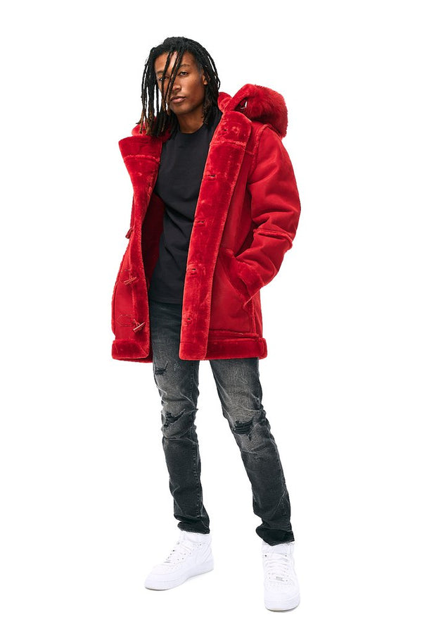 Jordan Craig-Denali Shearling Jacket-Red-91445