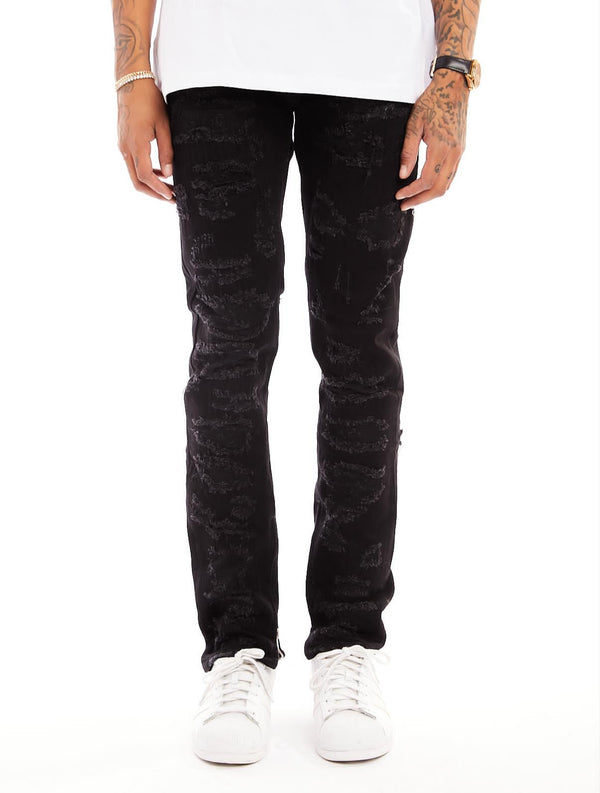 Damati-Distressed Denim Jeans-LT Wash(DMT-7-5)