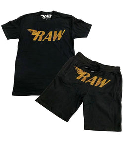 Rawyalty-Gold Bling Crew Neck Set-Black/Gold