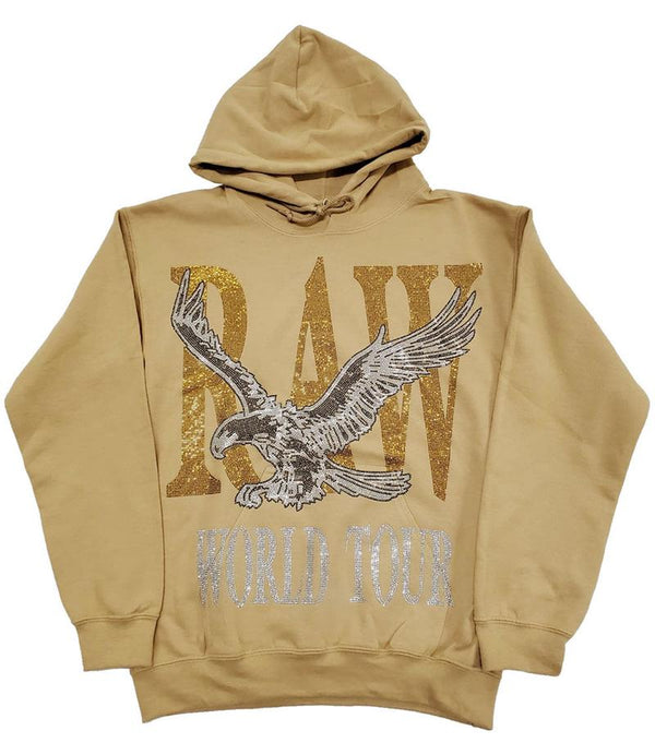 Rawyalty-Raw World Tour Red Bling Hoodie-Camel