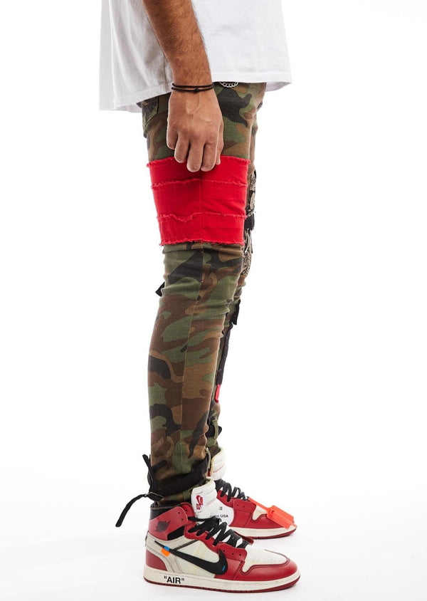 Reelistik-Red Patched Cargo-Army Green
