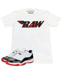 Rawyalty-PU Crew Neck Tee-White