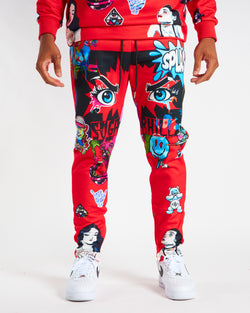 Sugarhill-Psycho Sweatpants-Red