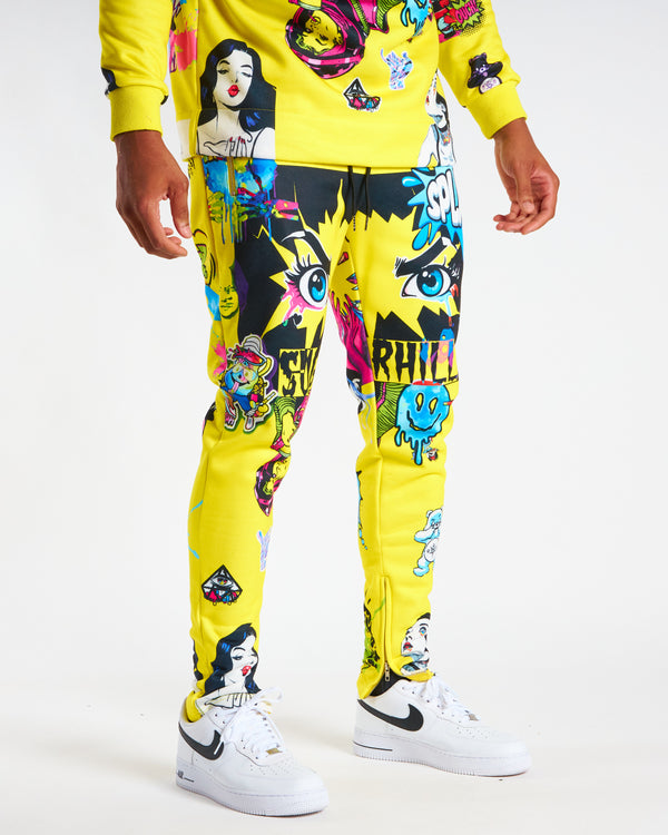 Sugarhill-Psycho Sweatpants-Yellow