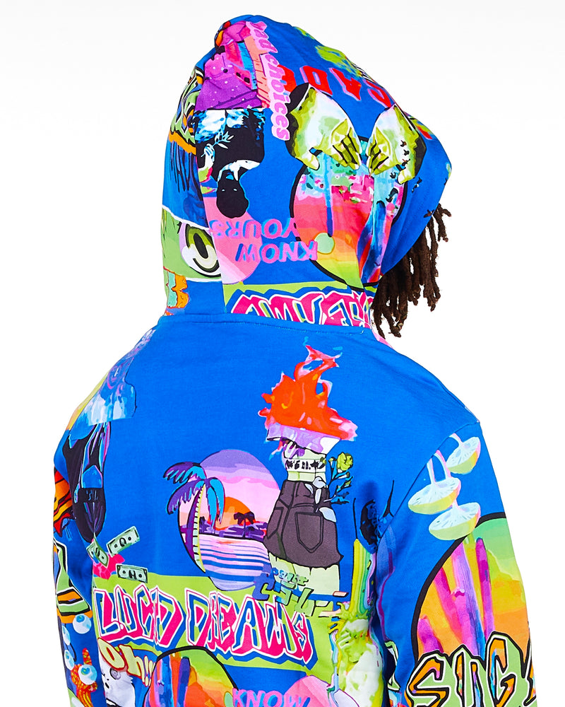 Sugarhill-Lucid Dream Hoodie-Deep Sea