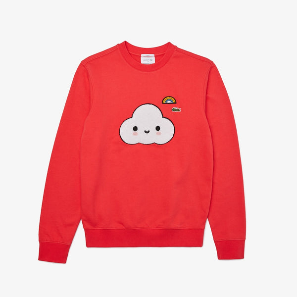 LaCoste-Lacoste X FriendsWithYou Print Sweatshirt-Energy Red-SH0411