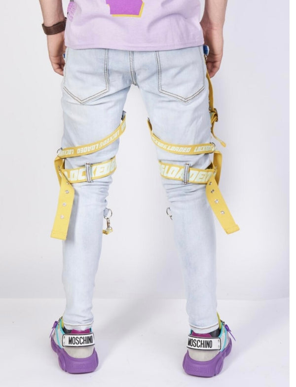 Locked & Loaded-Strap and Stones Denim-Sky Blue/LT.Yellow