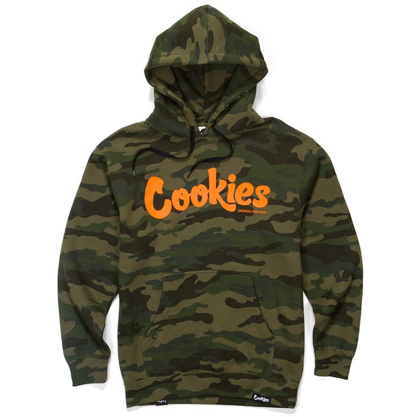Cookies-Original Mint Fleece Hoodie-Forest Camo/Orange