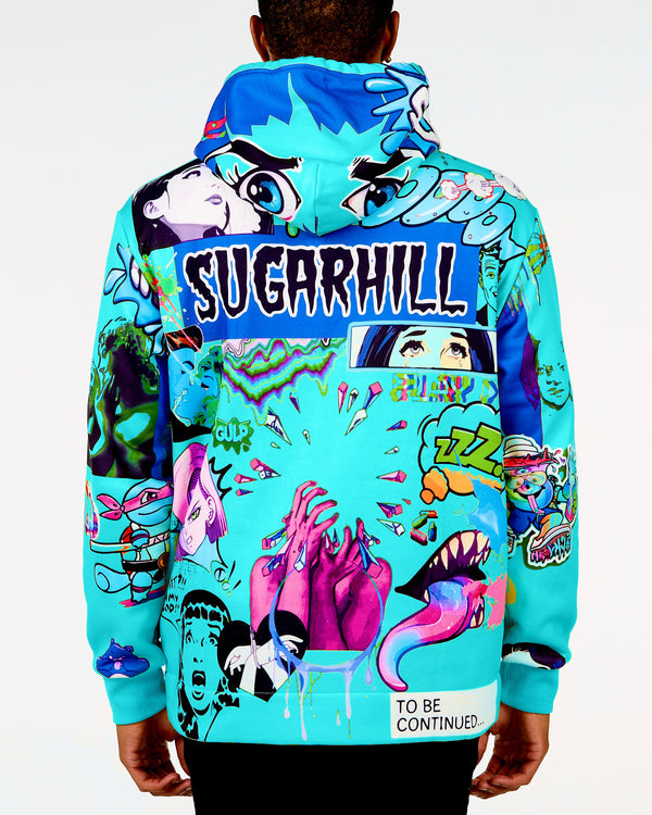 Sugarhill-Psycho Hoodie-Turquoise