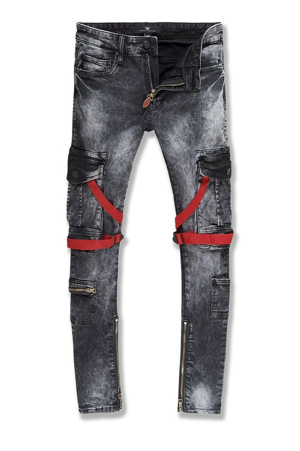 Jordan Craig-Ross-Deadwood Cargo Denim-Black Wash-JM3526