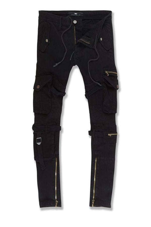 Jordan Craig-Ross-Brighton Cargo Pants-Black-5641M
