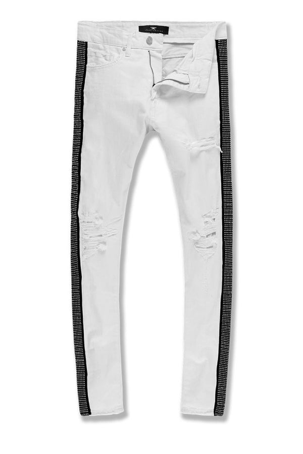 Jordan Craig-Ross-Vegas Striped Denim 2.0-White-JM3466