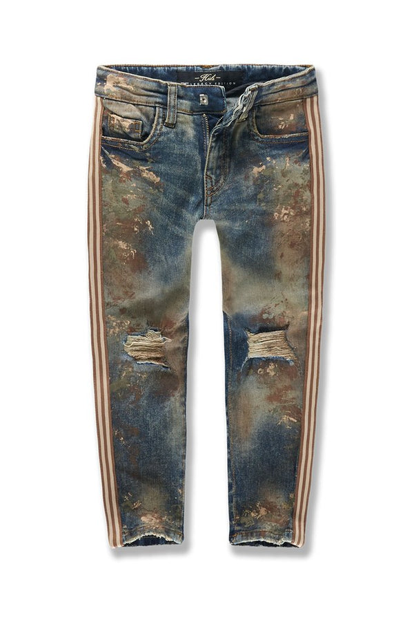Jordan Craig Kids-Sugar Hill Striped Denim-Woodland-JM3430K