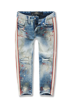 Jordan Craig Kids-Sugar Hill Striped Denim-Pumice-JM3430K
