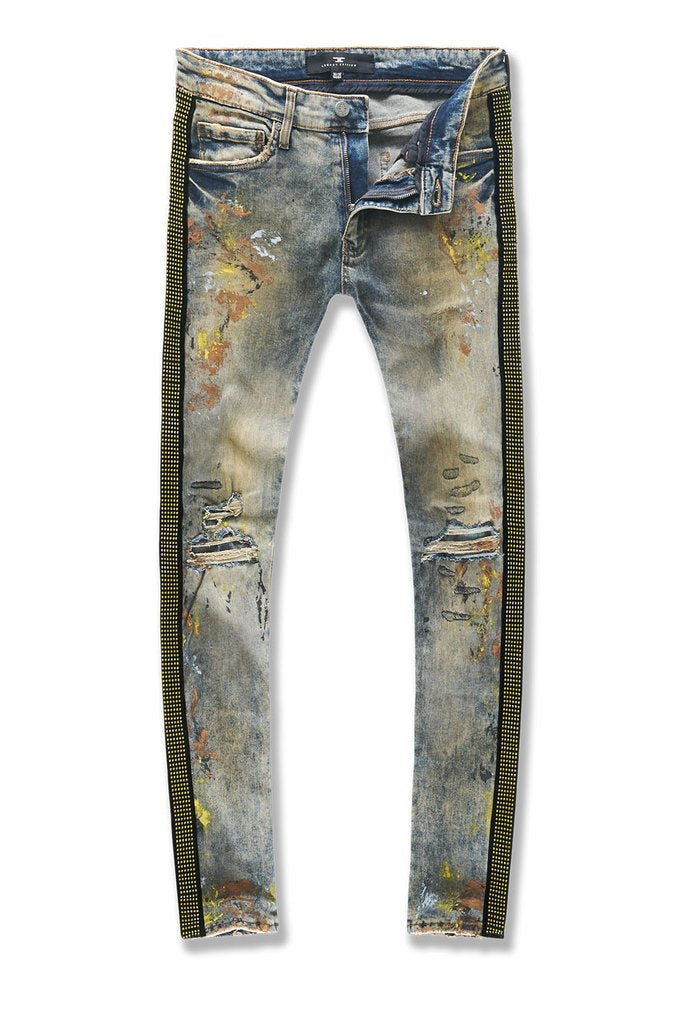 Jordan Craig-Ross-Vegas Striped Denim-Gold Desert-JM3449