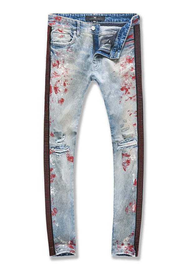 Jordan Craig-Ross-Vegas Striped Denim-Ice Blue-JM3439