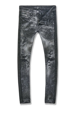 Jordan Craig-Ross-Vegas Striped Denim-Triple Black-JM3439
