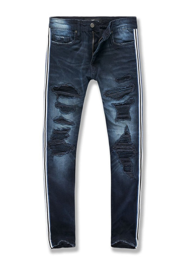 Jordan Craig-Sean-Saratoga Striped Denim-Midnight Blue-JM3435
