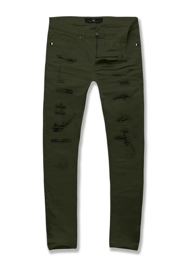 Jordan Craig-Sean-Tribeca Twill Pants-Army Green-JS91521R