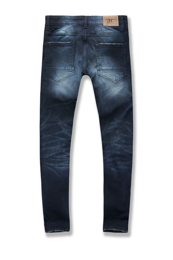 Jordan Craig-Saratoga Striped Denim-Midnight Blue-JR1014
