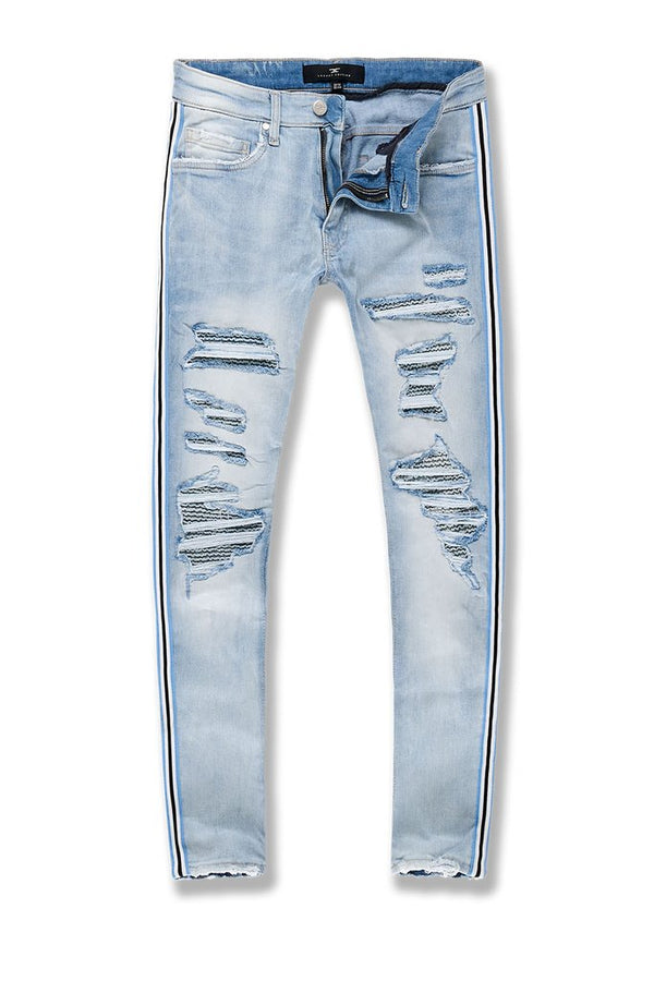 Jordan Craig-Ross-Saratoga Striped Denim-Ice Blue-JR1014