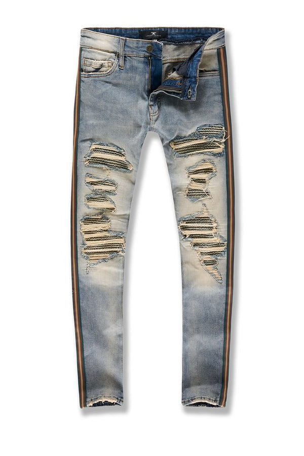 Jordan Craig-Saratoga Striped Denim-Desert-JR1014