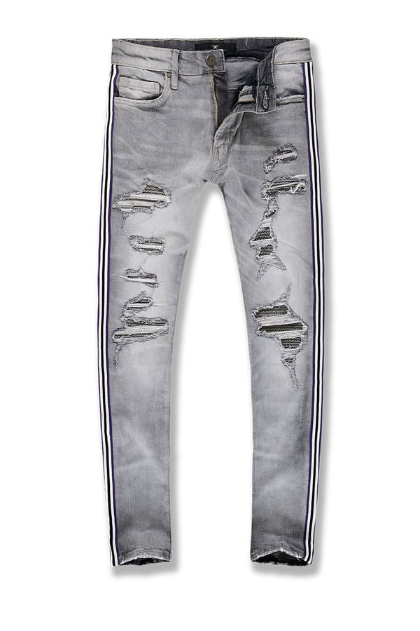 Jordan Craig Saratoga Striped Denim-Cement Wash-JR1014